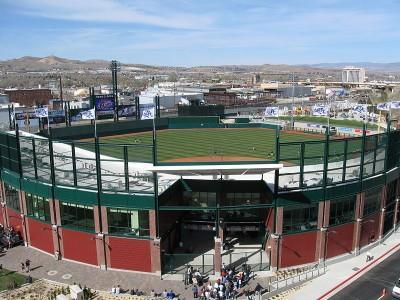 The Reno Aces Ballpark in Nevada