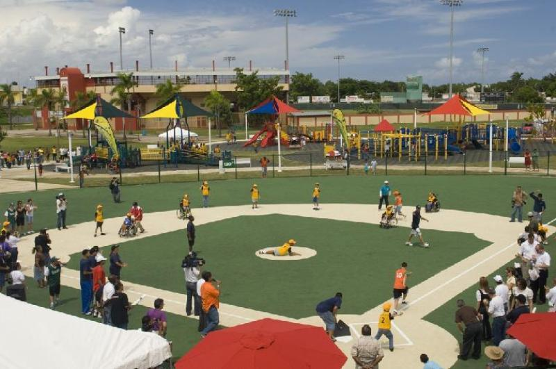 A Miracle League field