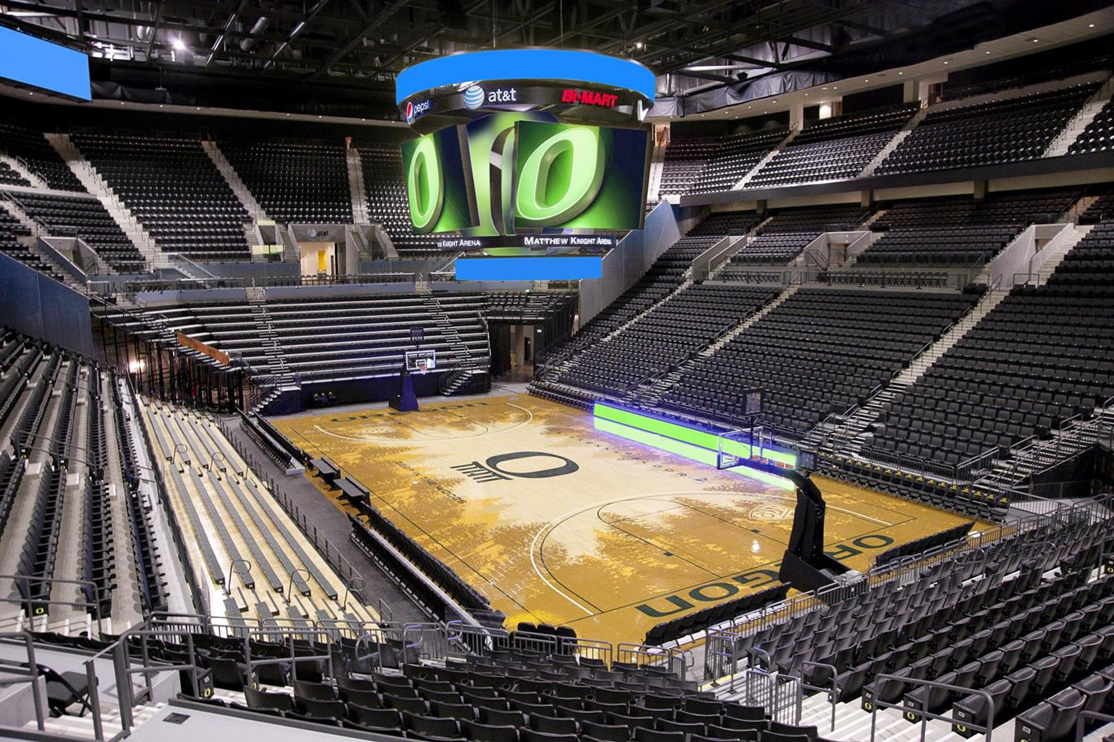 Matthew Knight Arena inside basketball court