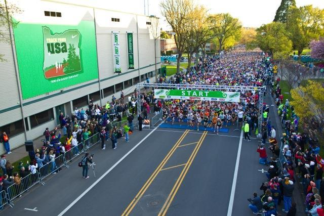 Hayward Field marathon start
