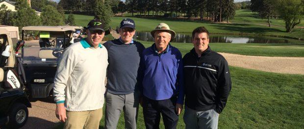 From left: Rick Adams, chief of sport operations and NGB relations; Justin Roach, Sports Planning Guide's sports marketing manager; Bob Mitchell, USA Shooting executive director; Ben Wilder, Savannah Sports Council executive director