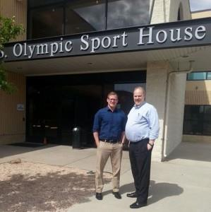 US Sport House; left: Justin Roach, sports marketing manager Sports Planning Guide; right: Lou Mengsol, US Sports Congress President