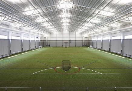 One of the two FIFA world-regulation-sized fields at Ultimate Soccer Arenas
