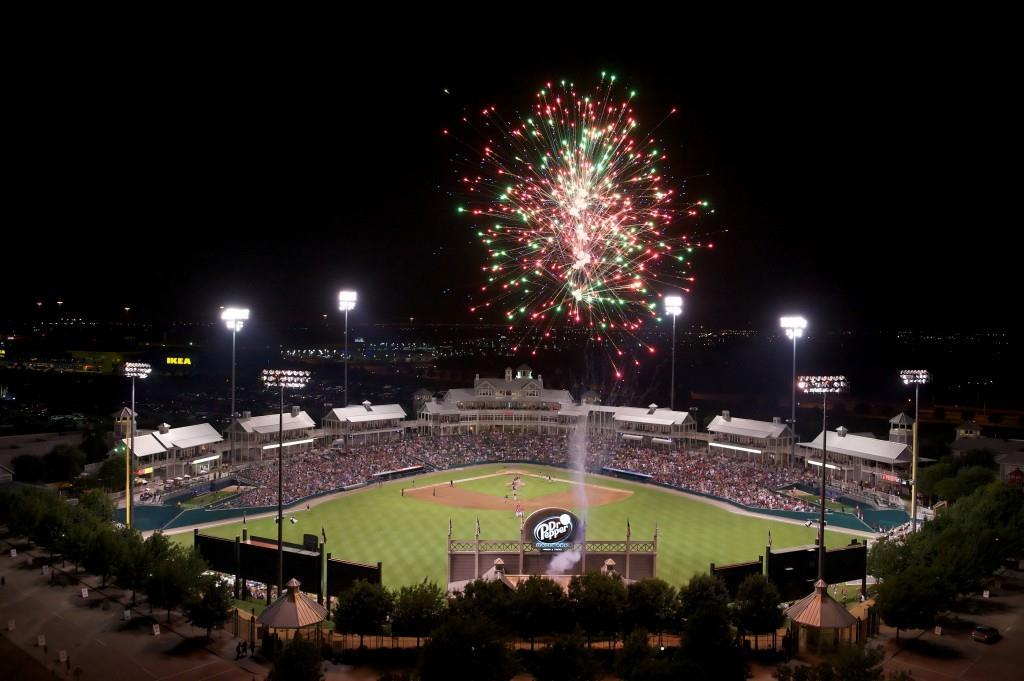 Fireworks at Dr Pepper Ballpark