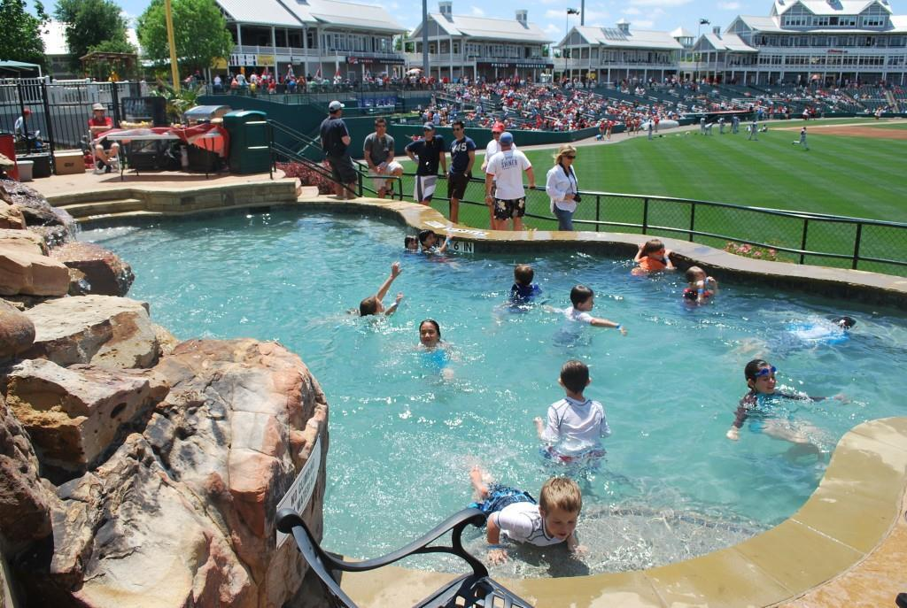 Pool at Dr Pepper Ballpark
