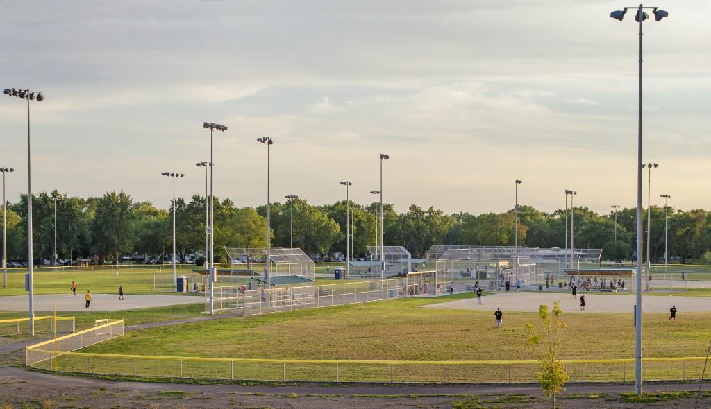 Memorial Park Field in Midlothian, Illinois