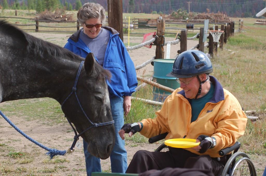 Connecting with a horse results in life-changing benefits for NSCD participants, from increased confidence to learning appropriate social and emotional behavior. Credit: Snow Mountain Ranch.