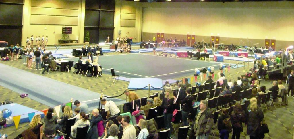 Gymnastics meet at TPCC