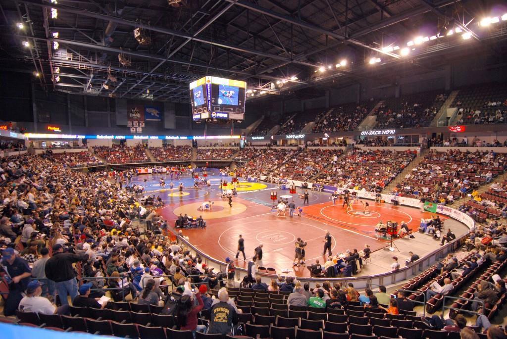 Wrestling at Rabobank Arena. Credit: Bakersfield CVB