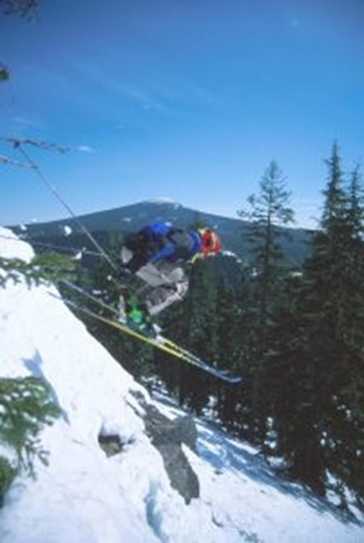 Skiing at Willamette Pass by Michael Kevin Daly