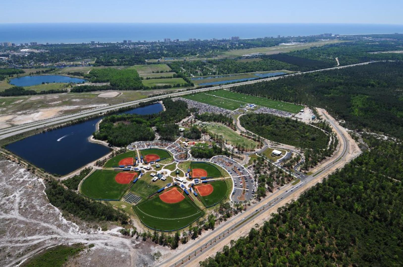 NMB Park and Sports Complex Aerial