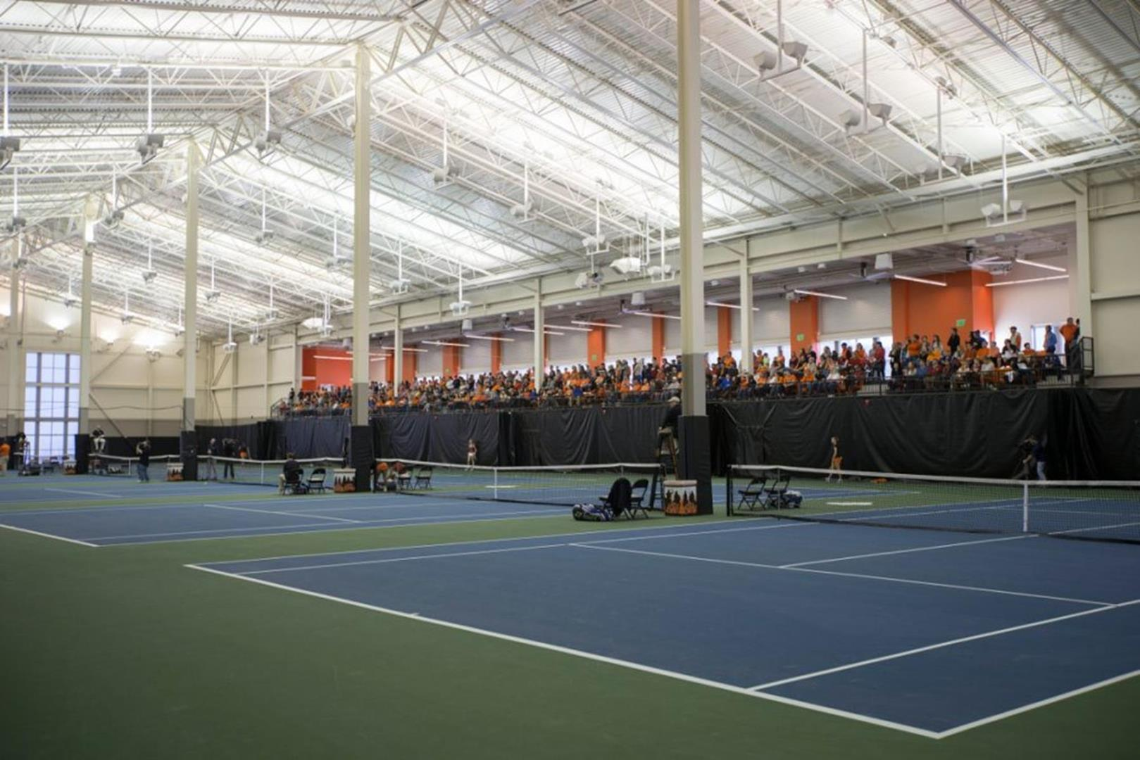 Image Taken at the Oklahoma State Cowgirls vs Oklahoma Sooners Women's Tennis Match, Sunday, March 9, 2014, Greenwood Tennis Center, Stillwater, OK