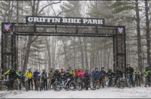 Griffin Bike Park under the sign