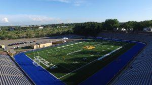In August 2015, Kettering University completed revitalization of Atwood Stadium. The revitalization marked the return of high school athletics and community events to the historic venue. Kettering selected FieldTurf Inc., the nation's leading provider of professional artificial playing surfaces, to install the same turf used at Ford Field in Detroit and Michigan Stadium in Ann Arbor in Atwood Stadium. This new surface will permit Atwood to host professional and NCAA sports, as well as local athletic events. The Atwood field also will be striped and widened to accommodate the regulation surfaces required by other sports, such as soccer and lacrosse.
