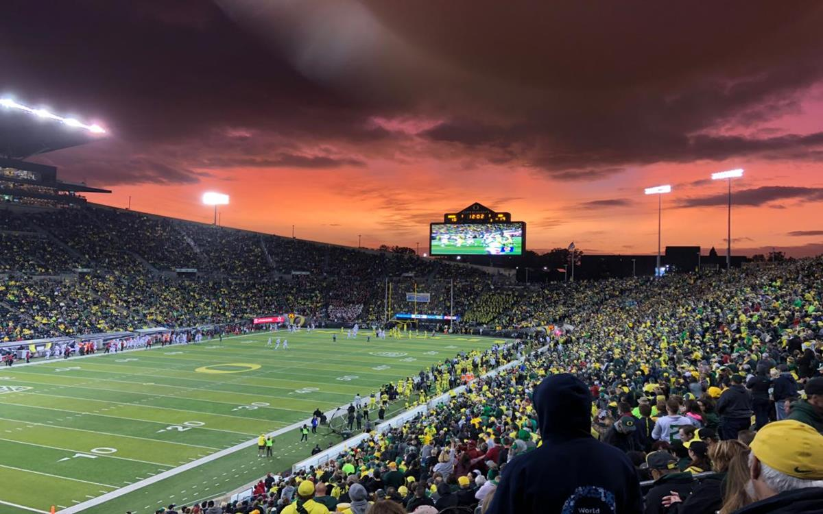 Autzen at Sunset