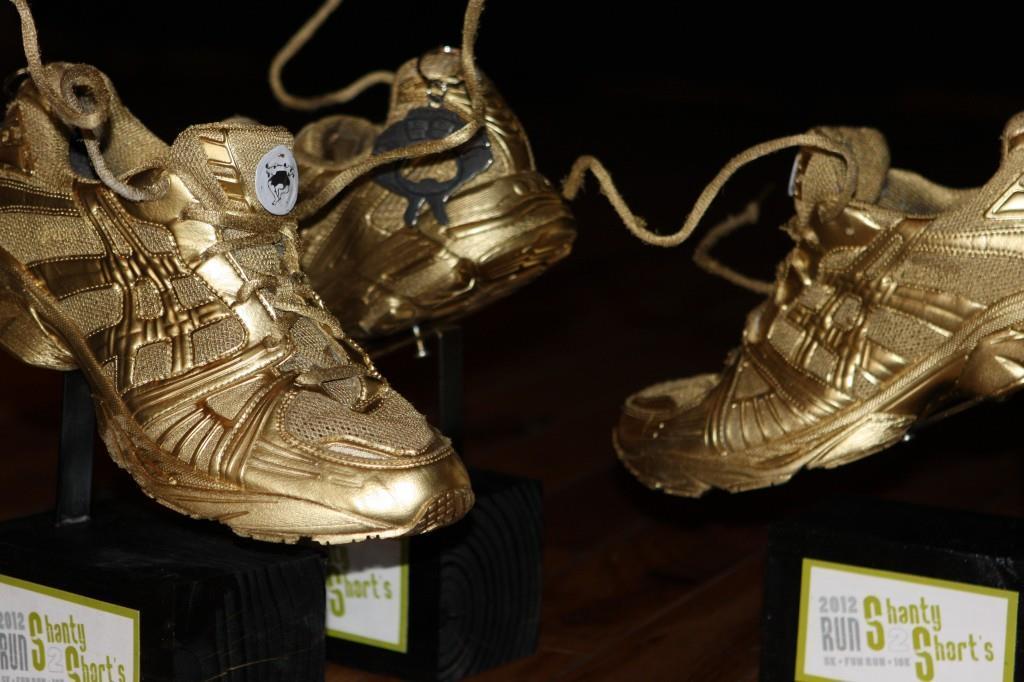 Shanty to Shorts shoe trophy. Credit: Shanty to Shorts 5k/10k