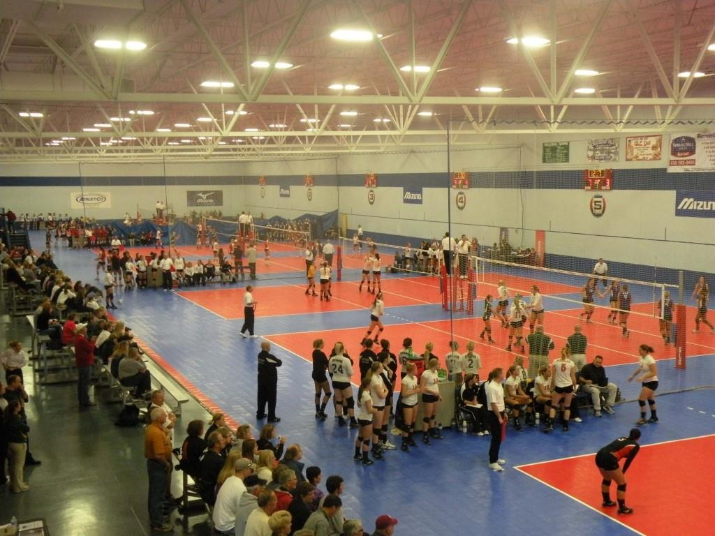 Great Lakes Center volleyball courts