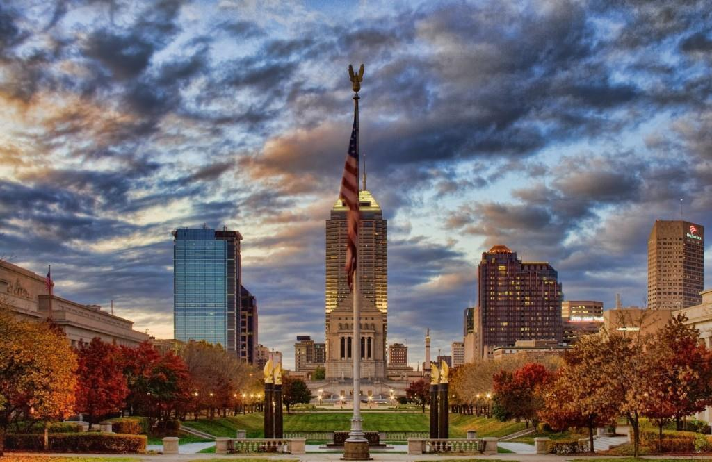 Indianapolis skyline. Photo courtesy of Carl Van Rooy Photography