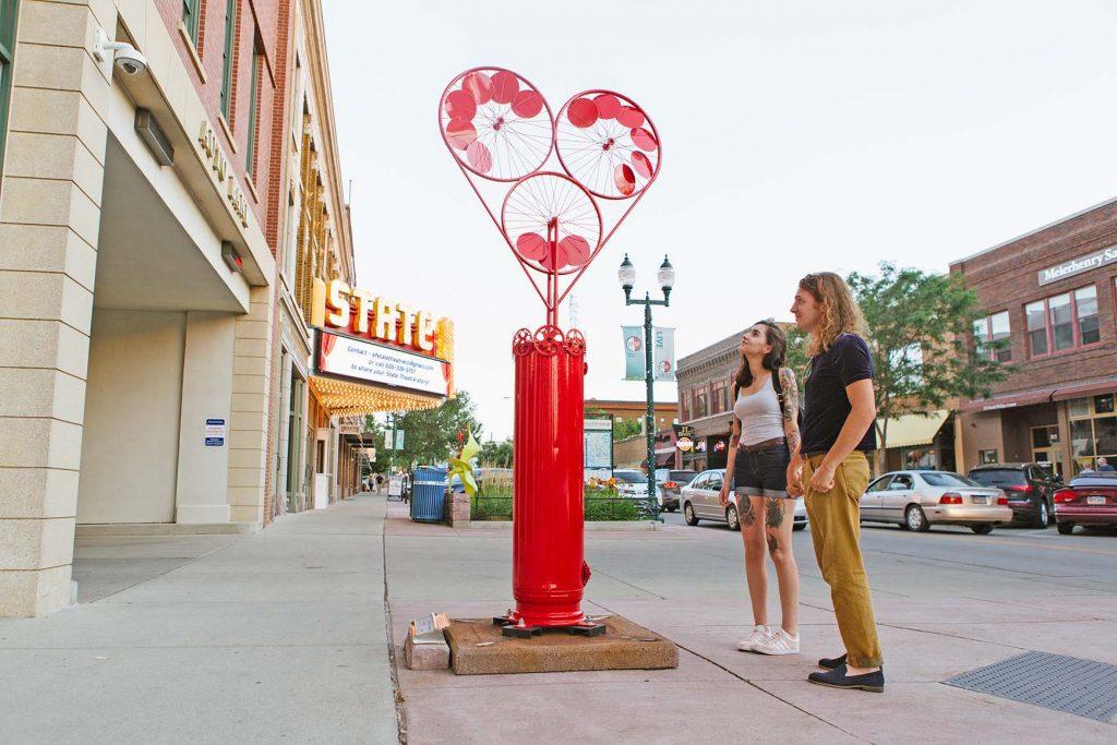 SculptureWalk. Courtesy Sioux Falls Convention & Visitors Bureau.