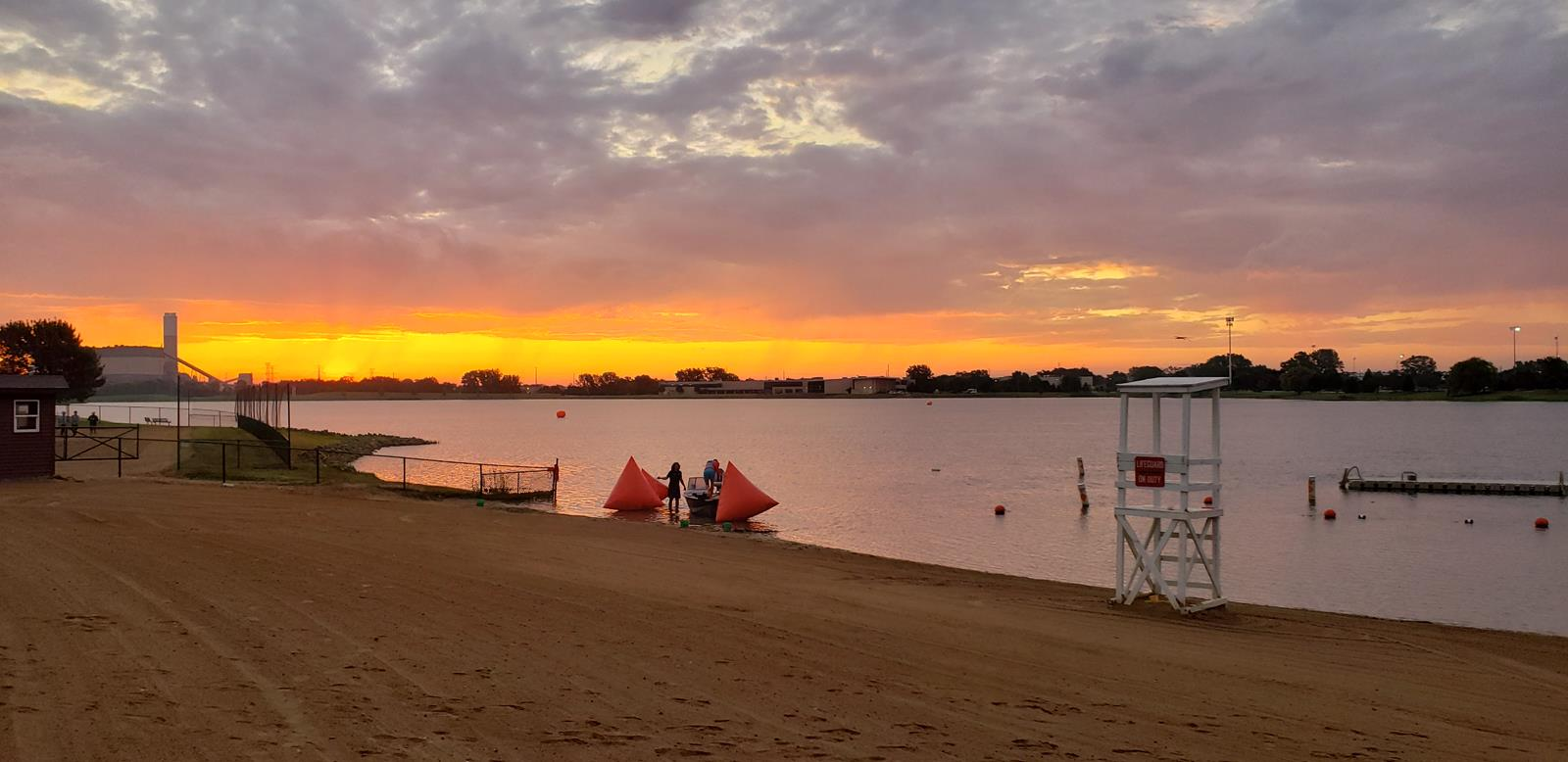 2019-08-18 UANA Open Water Swim sunrize with triangle markers_060323