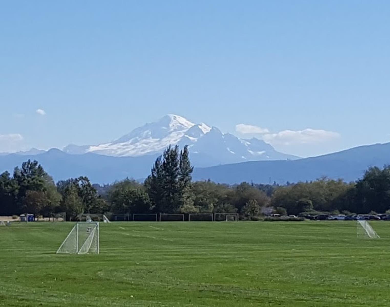 Bellingham Phillips Soccer Park overlooking Mt. Baker