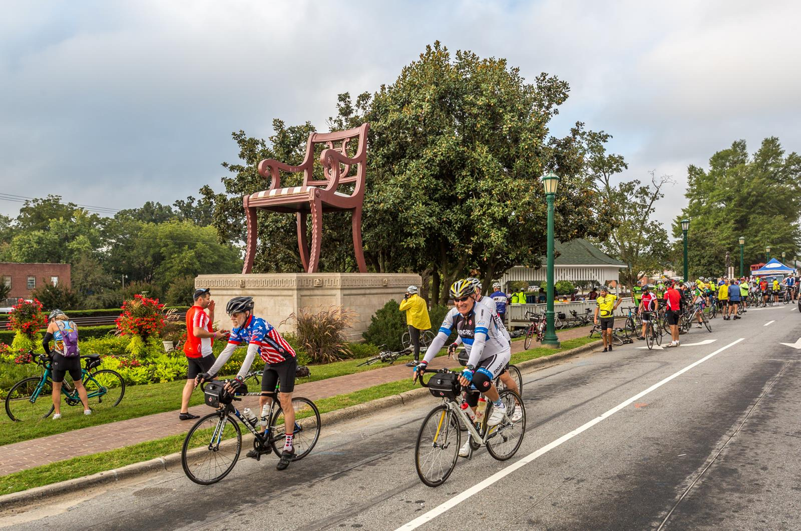 NCPN Downtown Thomasville Chair with Cyclists