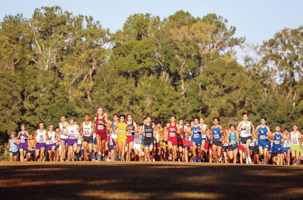 Cross-country meet at Apalachee Regional Park in Tallahassee. Photo courtesy of the Florida Sports Foundation