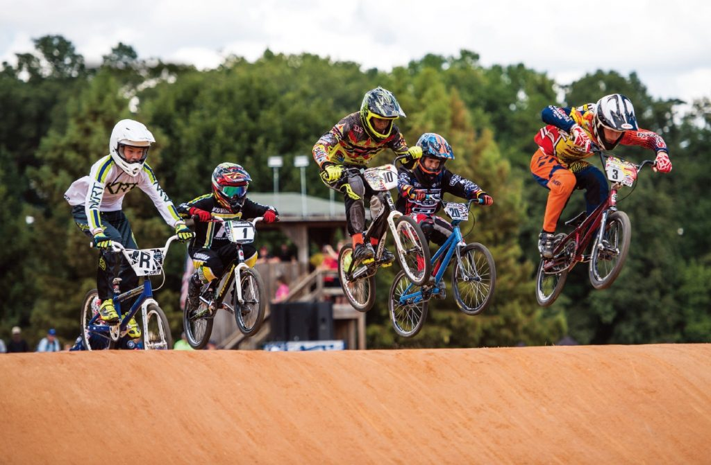 BMX racing competition. Photo courtesy of raleighsports.org